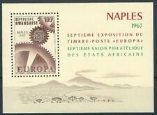 Ruanda - Briefmarkenausstellung Afrikas Block 7 postfrisch 1967 Mi. 215