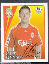 Merlin Fútbol - 2008 Premier League Pegatina no 310-Steve Finnan-Liverpool