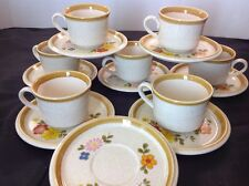 Mikasa Floribunda Pattern #f5813 Stone Manor Floral 7 Cups and 8 Saucers