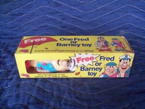 Early First Edition Post Cereal Pebbles Fred Flintstones Promotional Toy