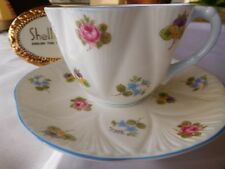 SHELLEY DAINTY ROSES PANSIES & FORGET-ME-NOTS   CUP AND SAUCER   # 13424
