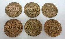 Lot of 6 Society of Norman Rockwell Official Corp. Seal Bronze Medals 1977-1982