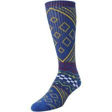 Vans Off The Wall Nordic Crew Socks Mens Royal Blue Multi Cotton Blend New NWT