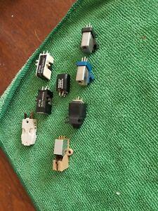 8 Piece Vintage Turntable Cartridge Lot Grado Pickering EV Empire AT ADC