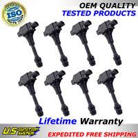 Quality Ignition Coil 8PCS for 07-12 Nissan Titan Armada Pathfinder// QX56 5.6L