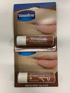 Vaseline Cocoa Butter Lib Balm Lip Therapy w/ Petroleum Jelly | 0.16 Oz (2 PACK)