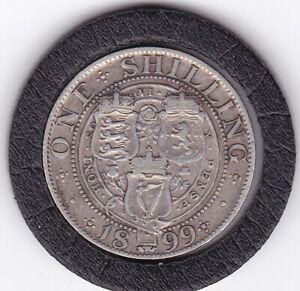 1899  Queen   Victoria   Shilling  (1/-)  Silver  (92.5%)   Coin