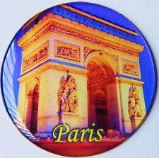Magnet Paris Souvenir Frankreich Arc de Triomphe,6,5 cm rund,NEU