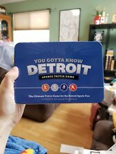 You Gotta Know Detroit - Sports Trivia Game 125 Trivia Cards w/ 500 Questions
