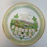 Seasons Greetings from Conrad State Bank Iowa 1909 Advertising Calendar Plate