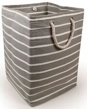New England Grey & White Pinstripe Heavy Duty Large Square Storage Bag 22896