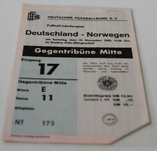 Ticket for collectors * West Germany - Norway 1966 in Koln