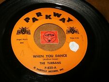 THE TURBANS - WHEN YOU DANCE - GOLDEN RINGS / LISTEN - DOO WOP POPCORN