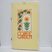 Coffee Garden Restaurant Vintage Table Menu 1970s Houston Oaks Hotel Texas