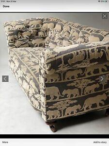 Victorian Chesterfield Sofa Upolstered In Sumptous Andrew Martin Velvet Fabric