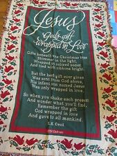 New Christmas Afghan Dicksons in Usa 50 x 72 Cotton Gods Gift Wrapped in Love
