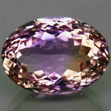 26.00 Ct. Natural Bi Color Ametrine Bolivia Oval Unheated Gemstone for Ring