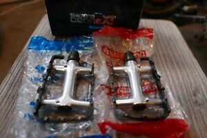 NOS Shimano DEORE XT M735 pedals vtg mtb retro Ritchey KLEIN Fat Chance Yeti xtr