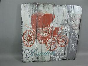 Immagine IN Legno Quadro da Parete Cocchio 60 CM X 50 Calesse Londra Big Ben