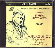 Evgeny SVETLANOV: GLAZUNOV Symphony No.1 Kremlin MELODIYA CD Sinfonie Glasunow
