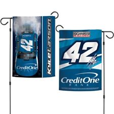 Kyle Larson Wincraft 2018 #42 Credit One Bank Double Sided 12x18 Garden Flag