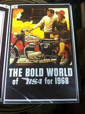 Vintage Bsa 1968 Lightning Thunderbolt Motorcycle Poster Man Cave Garage Art