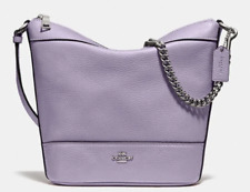 New Coach 76668 small Paxton Duffle Pebble Leather handbag Lilac