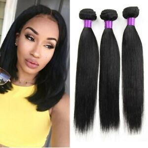 Straight 3 bundles 150g Human Hair Extensions Brazilian Unprocessed Indian Weave