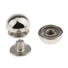50 Silver Tone Métal Cône Spike Rivets Rivets 7x6mm pour sac à main cuir I4V6