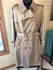 Vtg Rain Trench Coat Mens Khaki Removable Wool Liner Collar Poland size Large 44