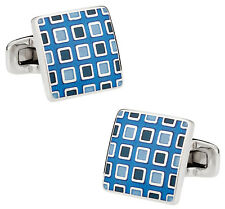 Pixelated Blue Cufflinks Direct from Cuff-Daddy