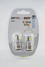 2 x P21/5W BAY15D 12V 4W  8 SMD 5050 LED RED  Car Bulbs