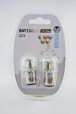 2 x P21/5W BAY15D 12V 4W  8 SMD 5050 LED RED  Car Bulbs