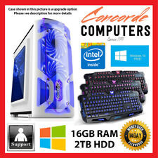 Intel Dual Core | 16GB | 2TB | Gaming Computer System Office Desktop PC i3 i5 i7