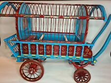 Romany Gypsy Wagon Bird/Mule/Finch Cage Handmade Wooden Vintage Bow Top Barrel