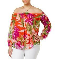 c161e3eb8b375 Inc International Concepts Plus Size 3x off The Shoulder Tropic Flower Top