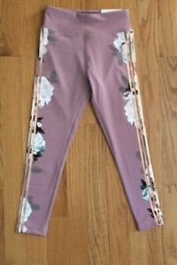Justice Active High Waist Ankle Rose Floral Legging - Sizes 6, 7, 10, 12, 14-16