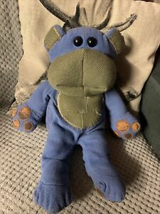 CBBC Nev The Bear Plush Toy Teddy Behaving Badly BBC Blue Plushie