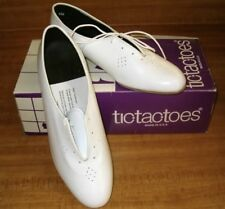 Womens 6 M White Made In USA Leather Lace Up Oxford Square Dance Shoes NIB !