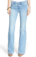 NWT FREE PEOPLE Women's Stretch Mid Rise Flare Jeans 24 x 32 OB412721
