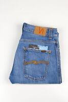 32893 Nudie Jeans Slim Jim Used Electric Indigo Bleu Hommes Jean Taille 29/32