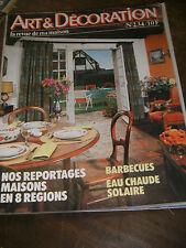 Art et Décoration N°234 1982 Les fers à repasser Mas Chauffe eau solaire Canuts