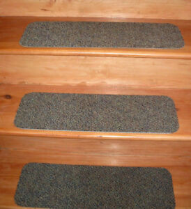 14 Step  Indoor Stair Treads  Staircase Step Rug Carpet  8'' x 24''  V - 5.