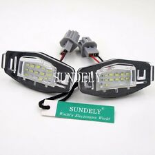 2 x License Plate LED Light Lamp For Acura MDX RL TL TSX ILX Honda Accord Civic
