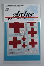 Archer 1/35 US Ambulance Markings (builds 1 Medium and 1 Large Vehicle) AR35002