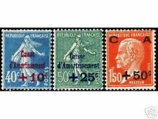 """FRANCE STAMP TIMBRE YVERT N° 246/248 """" CAISSE AMORTISSEMENT 1927 """" NEUFS x TB N8"""