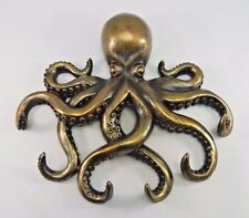 "Swimming Octopus Captain's Key Hook Wall Hanger Nautical Sea Life 11"" Wide"