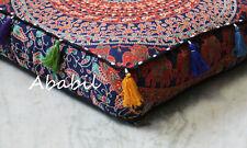 "18X4"" Square Multi Mandala Box Cushion Cover Floor Decorative Pillow Covers"