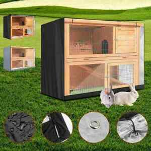 1X Rabbit Hutch Cover Pet Bunny Cage Dustcover Outdoor Patio-without Garden C8V3
