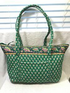 Retired Vera Bradley Large Travel Duffel Bag Green